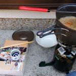 一人用あんこう鍋をキャンプ用品で調理してアウトドア気分になってみた